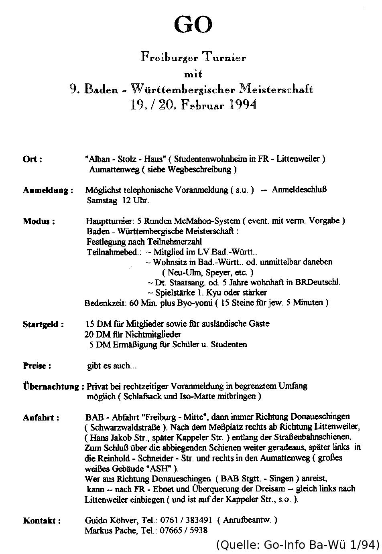 Ausschreibung 1994