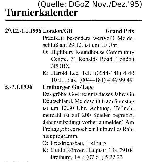 Ankündigung 1996