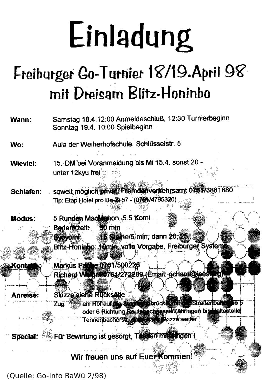 Einladung 1998
