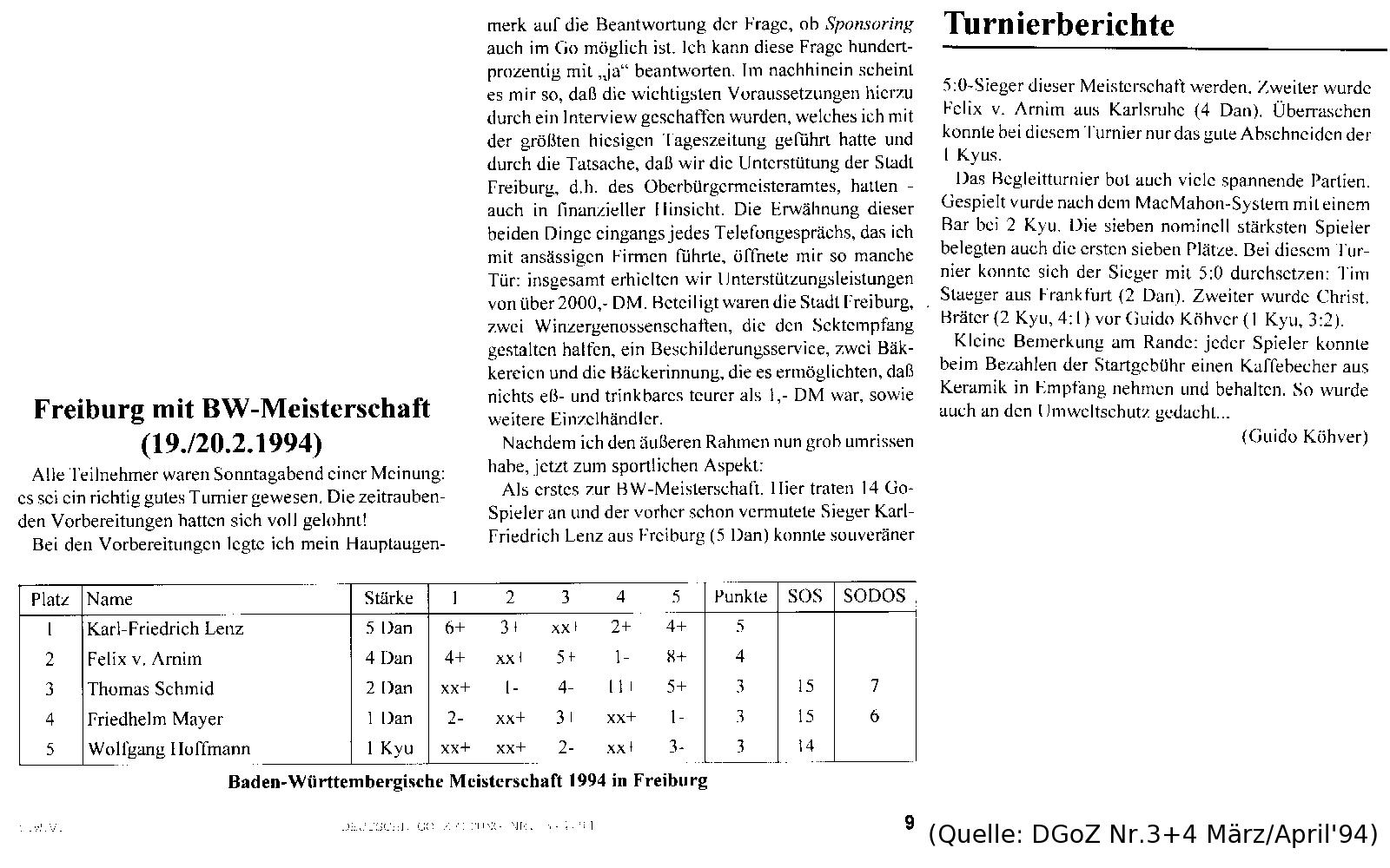 Bericht 1994